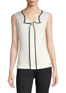 Calvin Klein Contrast-Trimmed Sleeveless Top