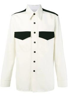 Calvin Klein virgin wool contrast panel shirt