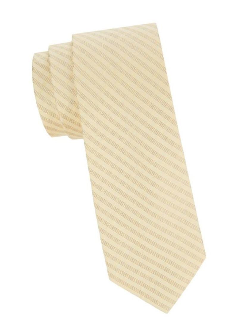 Calvin Klein Contrasting Pattern Silk Blend Tie
