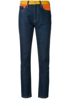 Calvin Klein contrasting waistband slim fit jeans