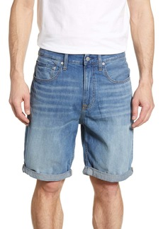 Calvin Klein Cotton & Linen Denim Shorts (Stockett Mid Rolled)