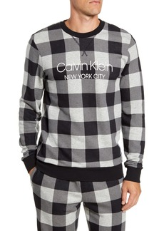 Calvin Klein Cotton Blend Crewneck Pajama Shirt
