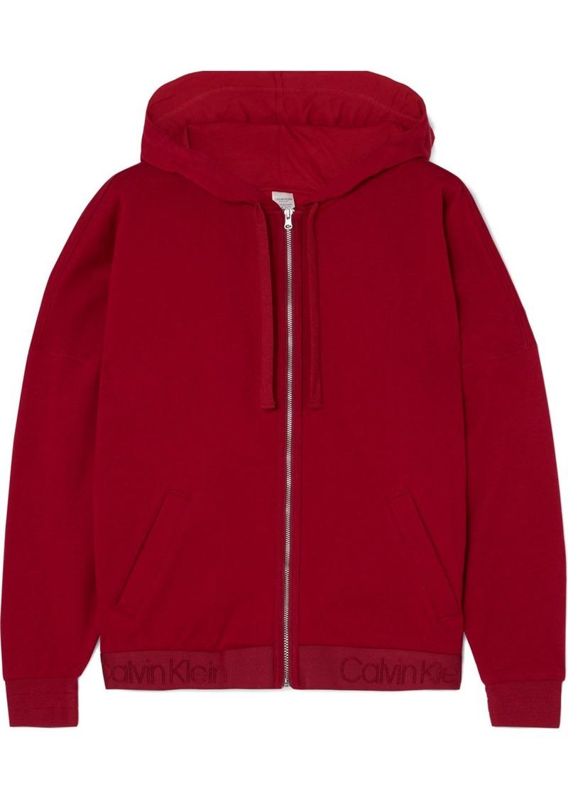 Calvin Klein Cotton-blend Fleece Hoodie