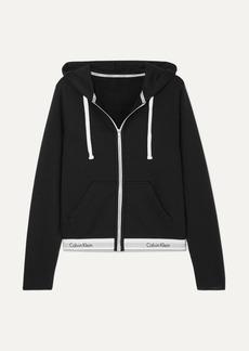 Calvin Klein Cotton-blend Jersey Hoodie