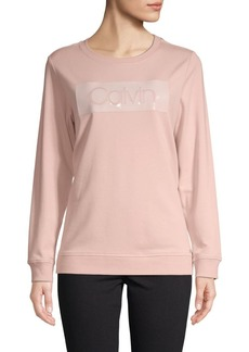 Calvin Klein Cotton-Blend Logo Sweatshirt
