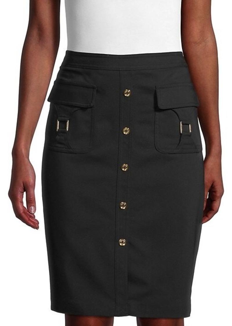 Calvin Klein Cotton-Blend Pencil Skirt