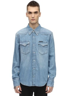 Calvin Klein Cotton Denim Western Shirt