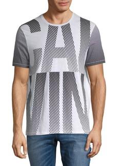 Calvin Klein Cotton Diagonal Lines Tee