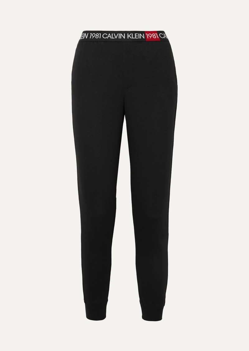 Calvin Klein Cotton-jersey Track Pants