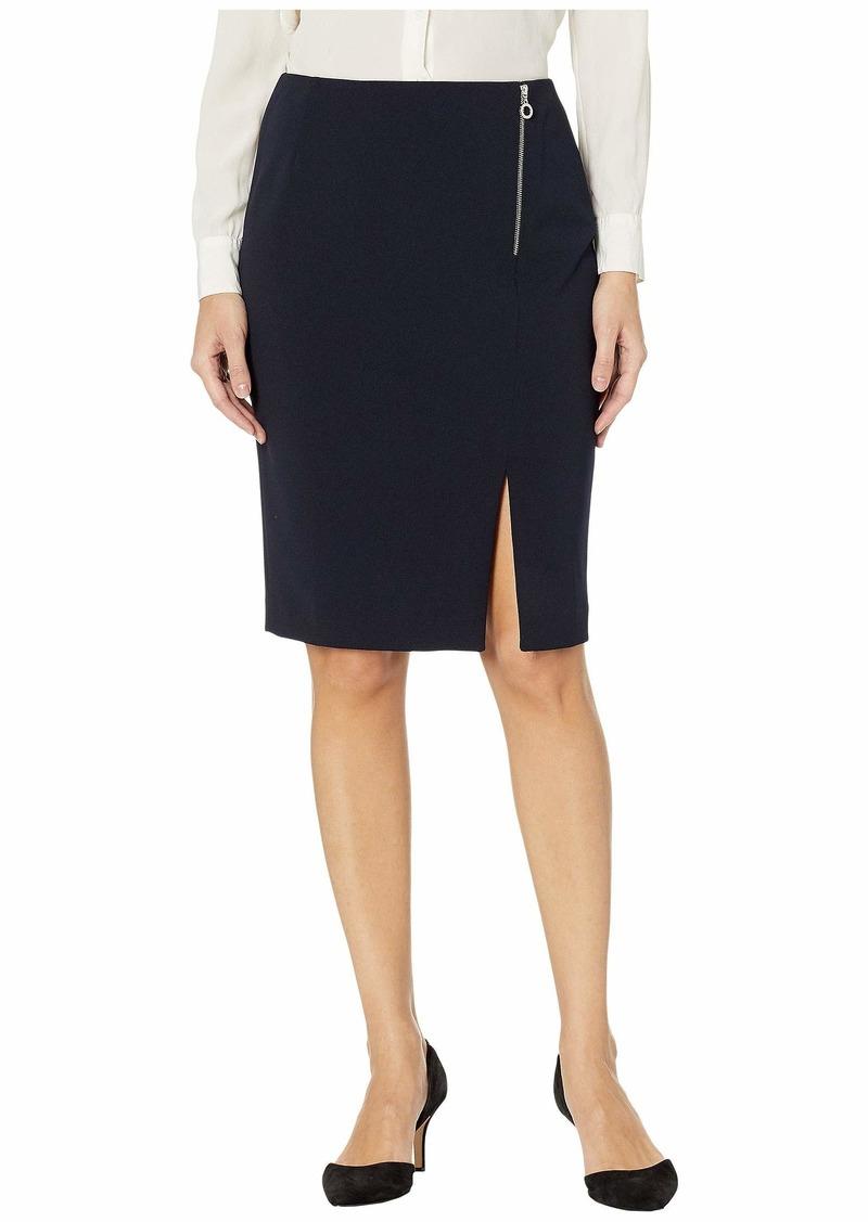 Calvin Klein Crepe Asymmetric Zip