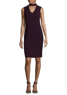Calvin Klein Crepe Choker Sheath Dress