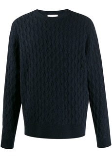 Calvin Klein crew neck cable-knit jumper