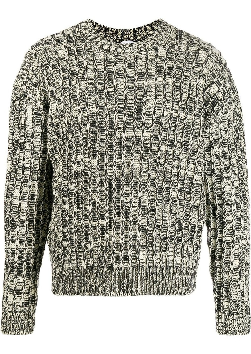 Calvin Klein crew-neck intarsia jumper