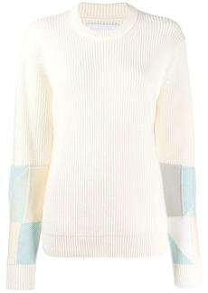Calvin Klein crew-neck patchwork jumper