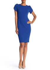 Calvin Klein Crew Neck Short Sleeve Sheath Dress