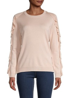 Calvin Klein Crewneck Ruffled Sweater