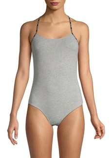 Calvin Klein Crisscross-Back Bodysuit
