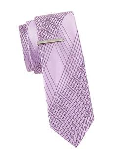 Calvin Klein Crisscross Slim Silk Tie