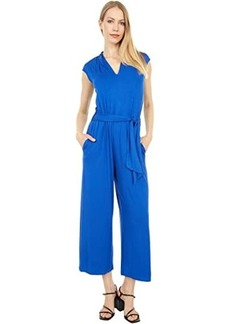Calvin Klein Cropped Belted Jumpsuit