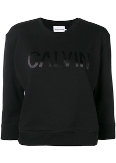 Calvin Klein cropped logo print sweatshirt