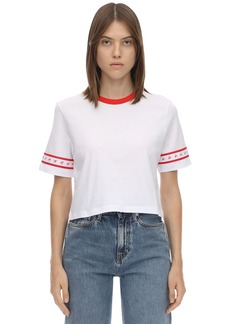 Calvin Klein Cropped Logo Side Tape T-shirt