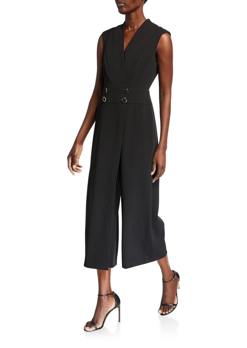 Calvin Klein Cropped Overlay Jumpsuit