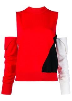 Calvin Klein cut-out colour block sweater