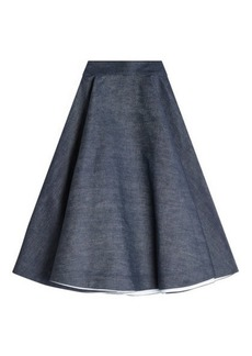 Calvin Klein Denim Midi Skirt