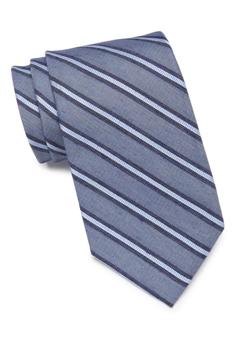 Calvin Klein Denim Stripe Tie
