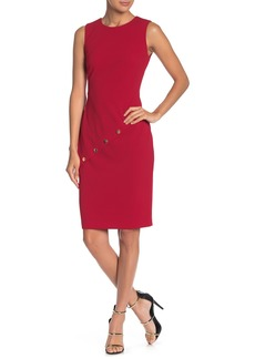 Calvin Klein Diagonal Button Sheath Dress