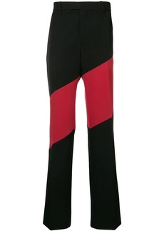 Calvin Klein diagonal stripe tailored trousers