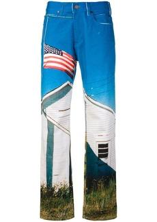 Calvin Klein digital-print jeans