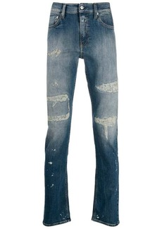 Calvin Klein distressed slim fit jeans