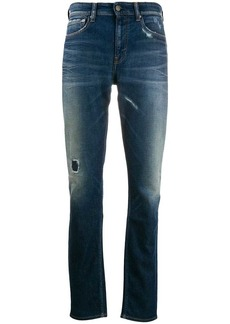 Calvin Klein distressed stonewashed jeans