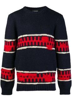 Calvin Klein distressed striped sweater