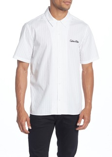 Calvin Klein Dobby Camp Long Sleeve Shirt