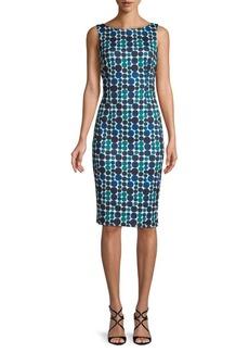 Calvin Klein Dot Print Sheath Dress