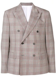 Calvin Klein double breasted check blazer