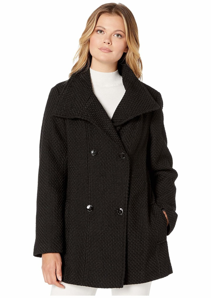 Calvin Klein Double Breasted Peacoat with Detachable Belt