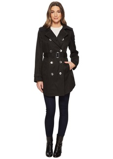 Calvin Klein Double Breasted Trench with Hi Lo Hem