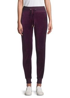 Calvin Klein Drawstring Velour Jogger Pants