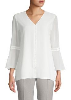 Calvin Klein Embellished Bell-Sleeve Blouse