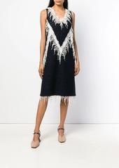 Calvin Klein embellished flared midi dress