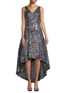 Calvin Klein Embellished Floral High-Low Dress