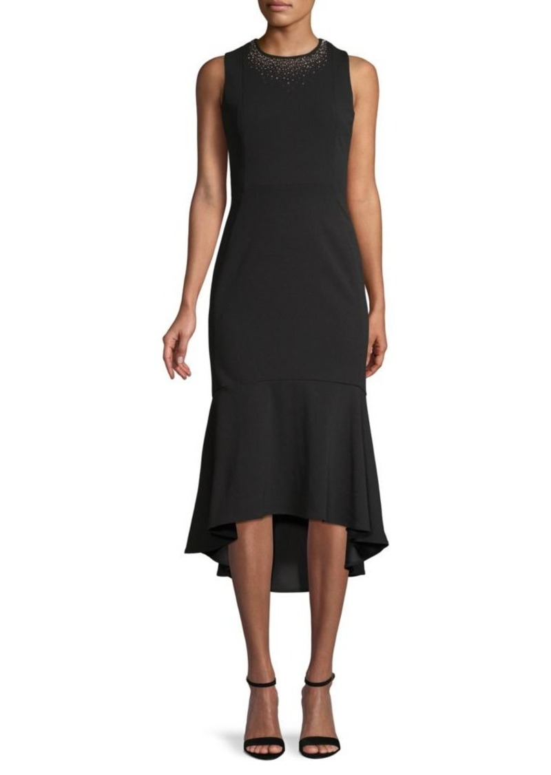 Calvin Klein Embellished Midi Trumpet Dress