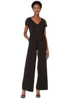 Calvin Klein Embellished Sleeve Jumpsuit