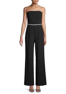 Calvin Klein Embellished-Waist Jumpsuit