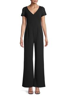 Calvin Klein Embellished Wide-Leg Jumpsuit