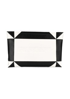 Calvin Klein embossed geometric clutch