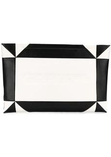 Calvin Klein embossed geometric clutch